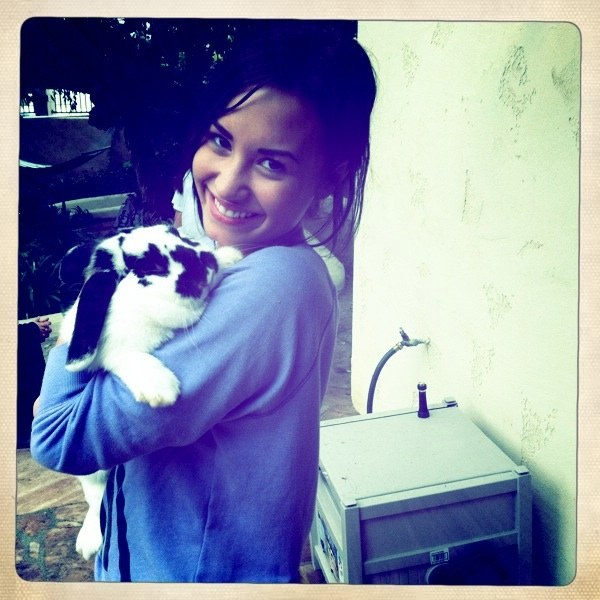 Demi Lovato and Bunny