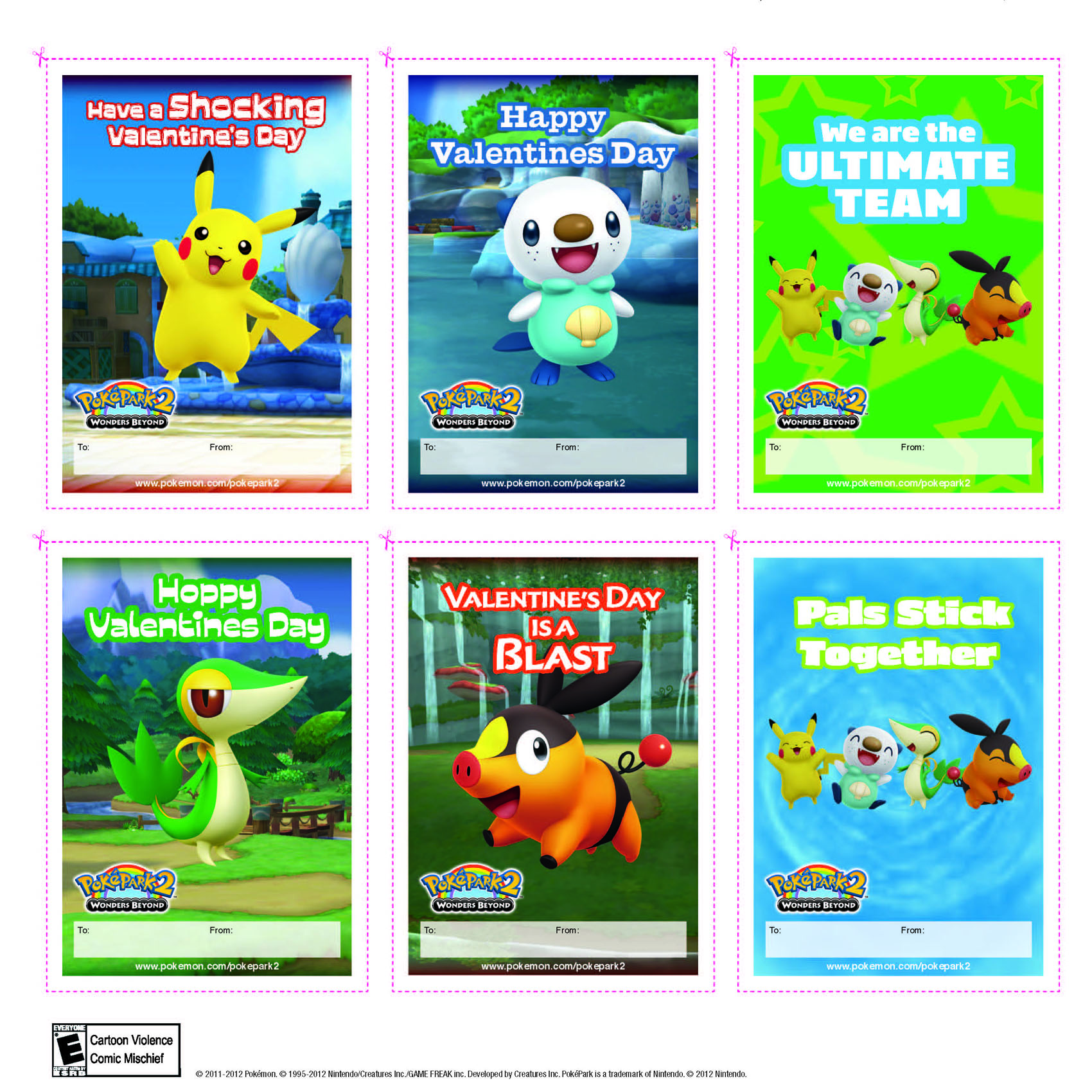 Lovely Printable Pokeman Valentines Day Cards Selection