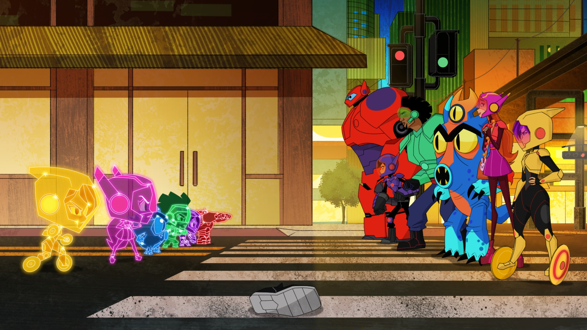Big Hero 6 The Series Friendly Face And Big Chibi 6 On Disney Xd Bsckids